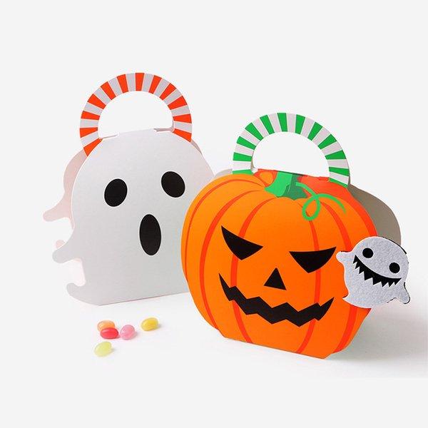 Halloween Kreative Kürbis-Geist-Geschenk-Box Papiertüte Süßigkeit Keks-Plätzchen-Geschenk-Kasten 19X16CM 18X16CM