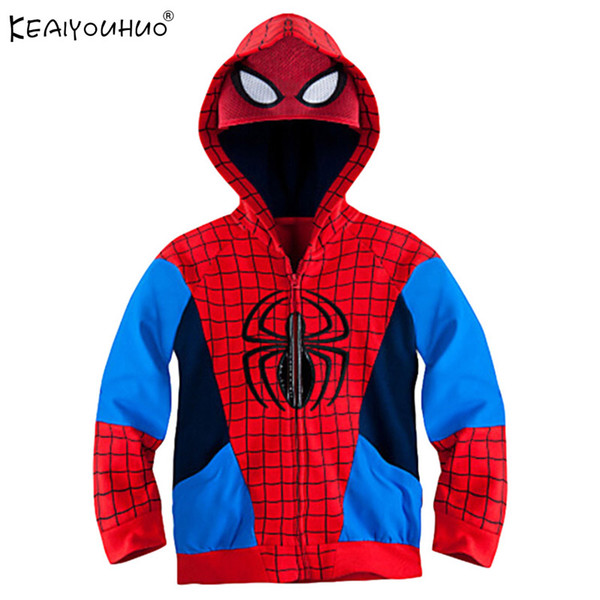 2017 Spring Jackets For Boys Clothes Fashion Children Spider Man Coat For Boys Girls Jacket Spiderman Kids Hoodies Outerwear