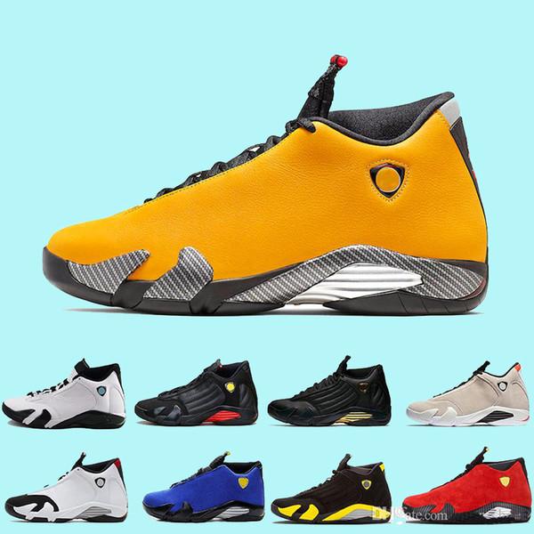 Ferrar ters Erkekler 14 s Sarı BQ3685-706 Basketbol Ayakkabıları Thunder Son Atış Spor Sneakers Jumpman Rip Hamilton Erkek Eğitmenler zapatos