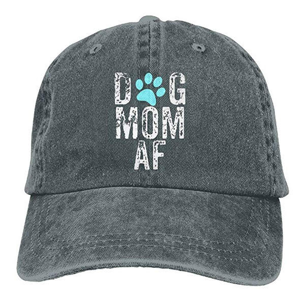HUAN 2019 New Cheap Baseball Caps Print Hat High quality for Men and Women Cotton Washed Twill Baseball Cap Dog Mom AF Hat