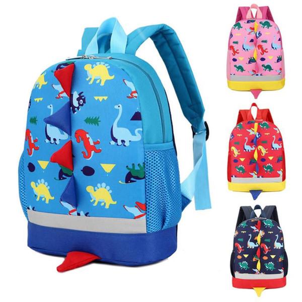 Kids Fashion Cartoon Backpack Baby Boys Girls Kids Dinosaur Pattern Animals Backpack Toddler School Bag Best Gift For Children