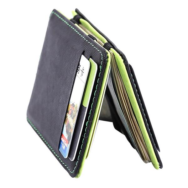 2019 Magic Money Clips Unisex Purse Wallet Ultrathin Carteira Slim Pu Leather ID Credit Card Case