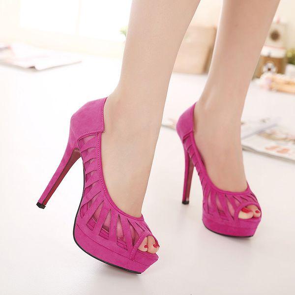 Sexy2019 Ince Yüksek topuklu Ayakkabılar Ile Xia Rong Erişte Ayak Su Geçirmez Platformu Burnu Mizaç Joker kadın Tekler Ayakkabı