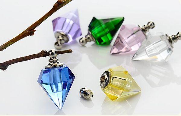 50pcs 14x19mm bouchon à vis pendentif flacon Flacon de parfum Miniature Essential nom d'huile ou pendentif bijoux collier art riz bricolage