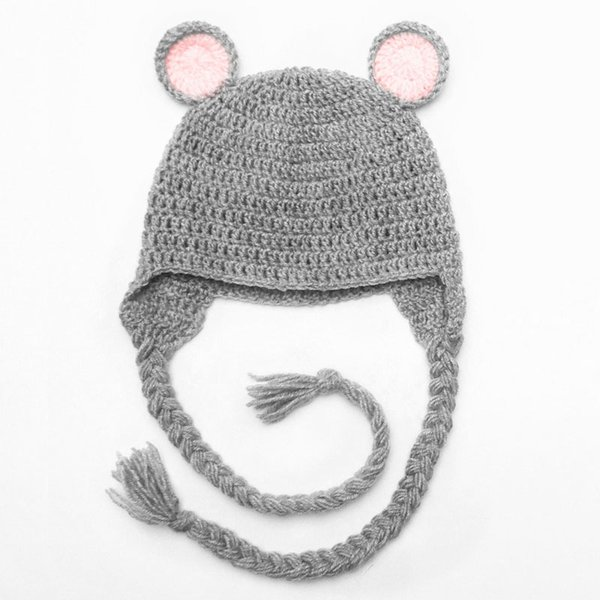 58ae0c864 2019 Lovely Grey Bear Hat,Handmade Knit Crochet Baby Girl Boy Animal  Hat,Winter Earflap Cap,Infant Toddler Photo Prop Shower Gift From  Awesome_shop, ...