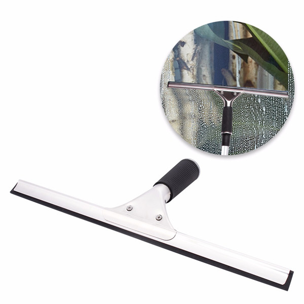 top popular Stainless Steel Water Wiper Removable Window Squeegee With Comfortable Handle For Car Window Home Window Ceramic Tile Floor 35cm(13.78inch) 2021