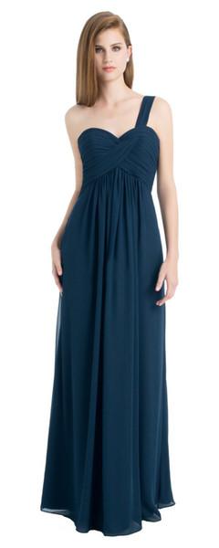Beauty Teal Blue Chiffon One Shoulder Junior Bridesmaid Dresses Bridesmaid Wedding Dresses Party Dresses Custom Size 2-18 KF101411