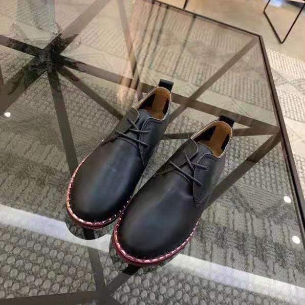 Avrupa ve Amerikan Tasarımcı ilkbahar ve sonbahar bayan ayakkabıları deri dantel-up düz alt elbise ayakkabı rahat rahat ayakkabılar F055AIa
