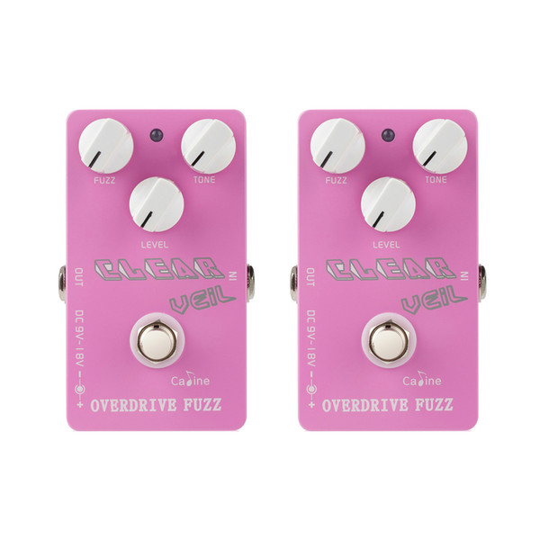 NAOMI 2PCS Vintage Tube Overdrive Guitar Effects pedal Analog Fuzz Guitarra Pedal High Gain Large adjustability CP-32