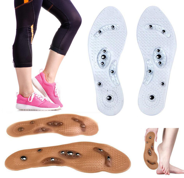 Hot Silicone Foot Cushion Acupressure Slimming Pad Magnetic Therapy Shoes Insole