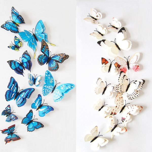 3d butterfly wall stckers wall decors wall art wall.htm wall stickers set 3d butterfly colorful double layers wall  wall stickers set 3d butterfly colorful
