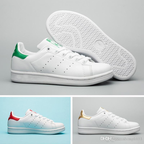 New Summer Fashion smith Sneakers women men Casual shoe leather sport classic Top quality Female Flat shoe Lovers Sapatos Femininos shoe