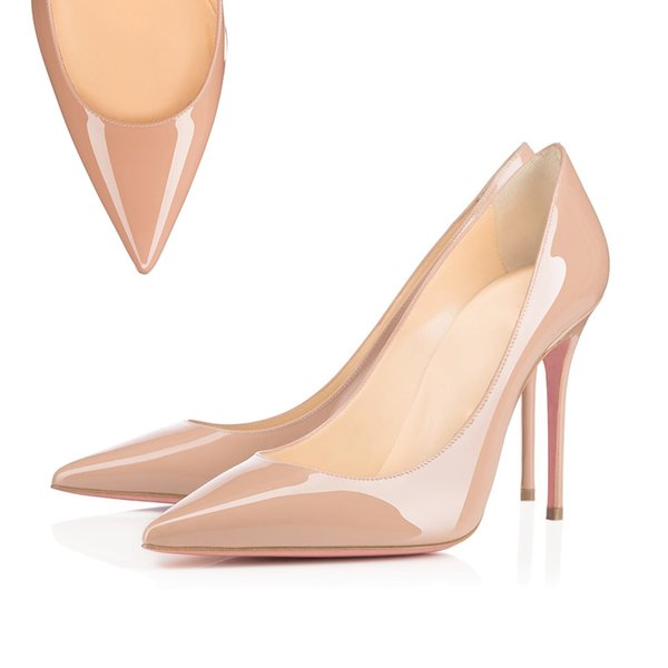 Pointed Toe leather Nude