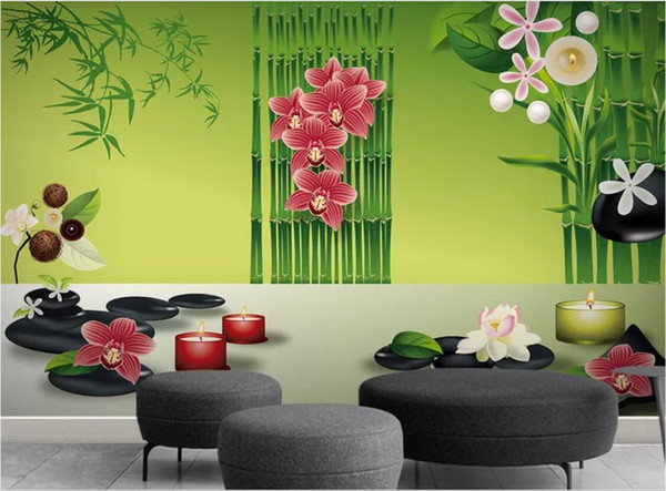 3d Room Wallpaper Custom Photo Mural Beauty Spa Club Health Club Physical Therapy Massage Center Background Wall Wallpaper For Walls 3 D Thanksgiving