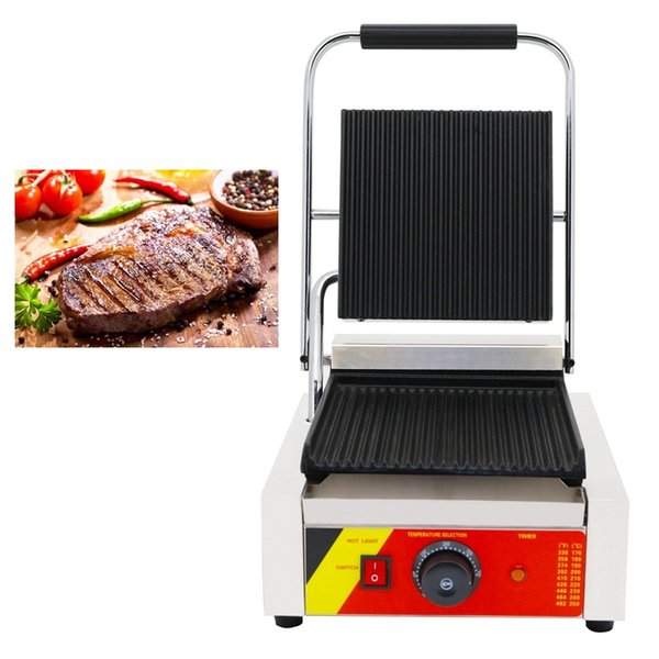 Non-stick 110v 220v Electric Sandwich Press Maker Commercial Panini Machine Iron Baker Grill Presser Plate Making Pan