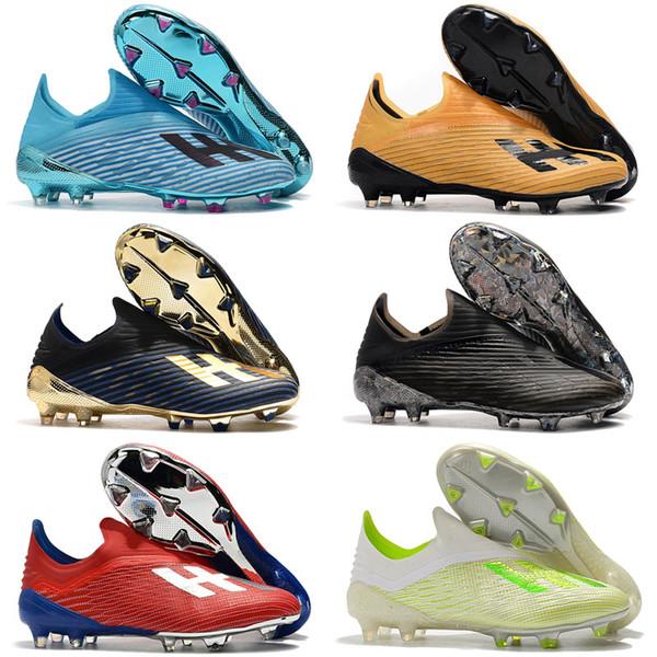 2020 X 19.1 Scarpe FG Mens di calcio con tacchetti merletto chaussures ramponi economici stivali de Football x19 + alta qualità Scarpe da Calcio