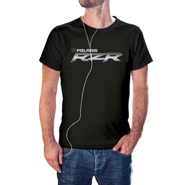 Polaris RZR ATV Logo Men's Black T-ShirtFunny free shipping Unisex Casual Tshirt top