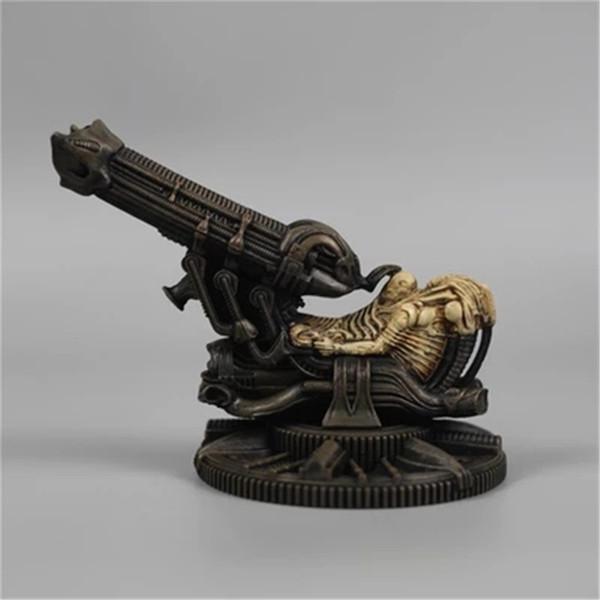 Espace d'artillerie Alien Jockey Alien vs. Predator Prometheus artisant Sculpture Décorations de bureau G1463