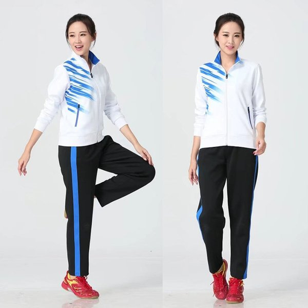 Women's white with black pants