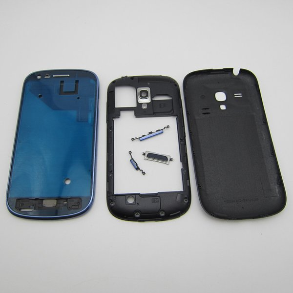 Full Housing replacement Spare parts For Samsung Galaxy S3 mini i8190 Front LCD Bezel + Middle Frame + Back Cover