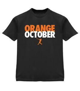 Yeni TURUNCU Ekim 2016 Playoff Tee T Gömlek Mens BlaNew Erkek S