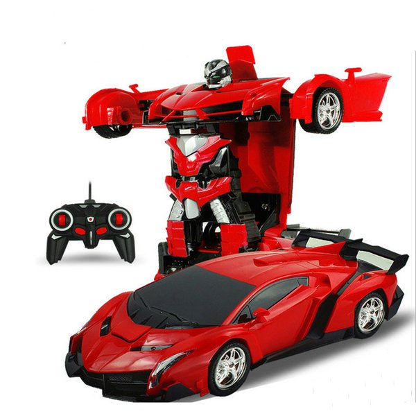 Toptan RC Araba Dönüşüm Robotlar Spor Araç Modeli Robotlar Oyuncaklar Serin Deformasyon Araba Çocuk Oyuncakları Çocuk Hediye