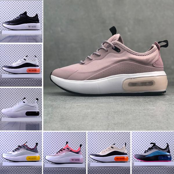 Großhandel Nike Air Max Dia Airmax Dia Shoes Günstige Dia Se Schwarz Weiß Rosa Laufen Sportschuhe Frauen Männer Designer Rot Grau Dias Se Racer Damen