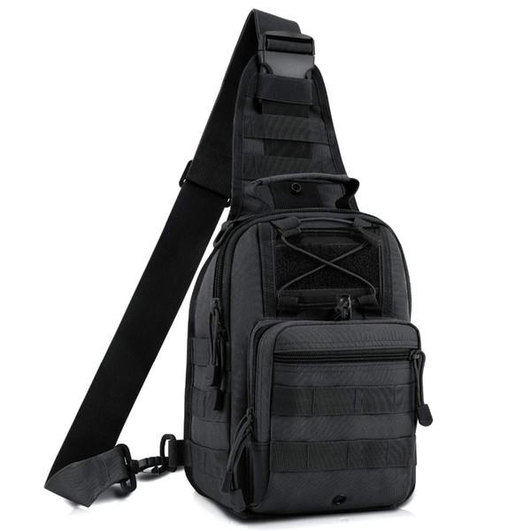 EDC Molle Sling Bag Shoulder Backpack Chest Pack 600D Outdoor Tactical Men's Shoulder Backpack Men's Hand Pouch