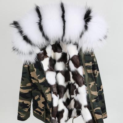 Et Avec Camouflage Femme Parkas De Renard En Blanc Coquille Acheter Laveur Raton Noir Mini Doublure Fourrure JT3uKc1lF