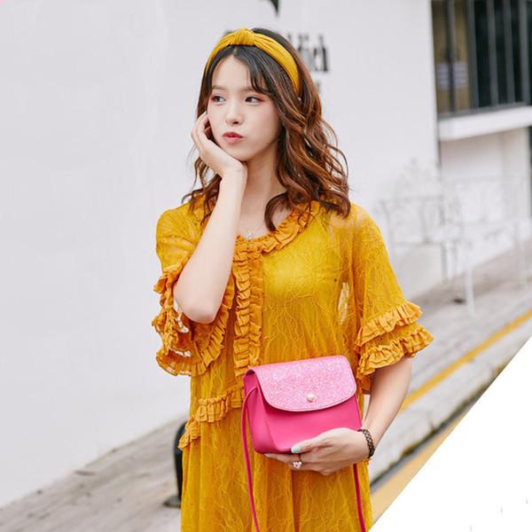 Cheap Women Sequins Pearl Cover Crossbody Bag Messenger Bags Shoulder handbags Coin handbag Dropshipping JULY4