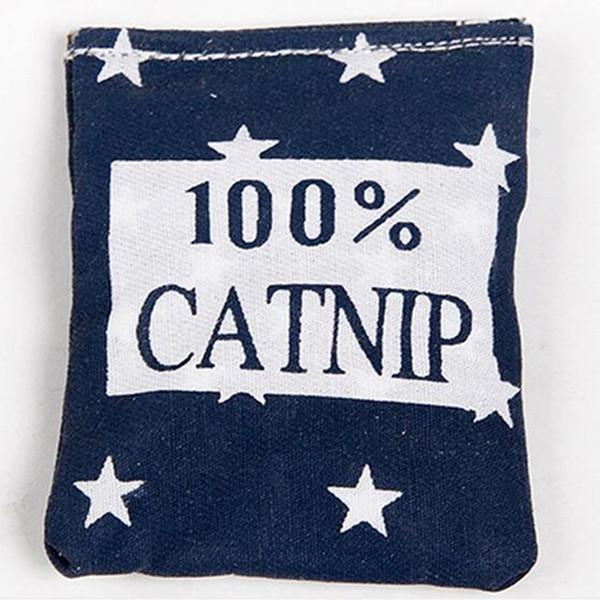 top popular 100% Linen Square Shape Catnip Bags cat Catnip Toys Different Colors Supply Cat Love It Pet Catnip Supply Pet Cat toys Training 2021