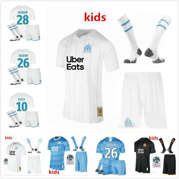 2019 Kids Kit 19 20 Olympique De Marseille Soccer Jersey Om