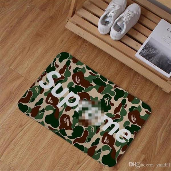Tide Marca Palor Moda Tapetes Carta Moda Impresso Marca Esteiras Homely Design À Prova D 'Água Tapetes de Banho Do Pé
