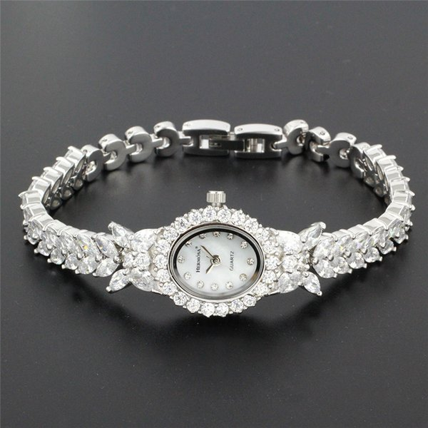 Perfect Womens Quartz Wristwatch Fashion Jewelry Watch For Lady Party Bracelet 8 Inches Hs0013w J 190429 J 190430