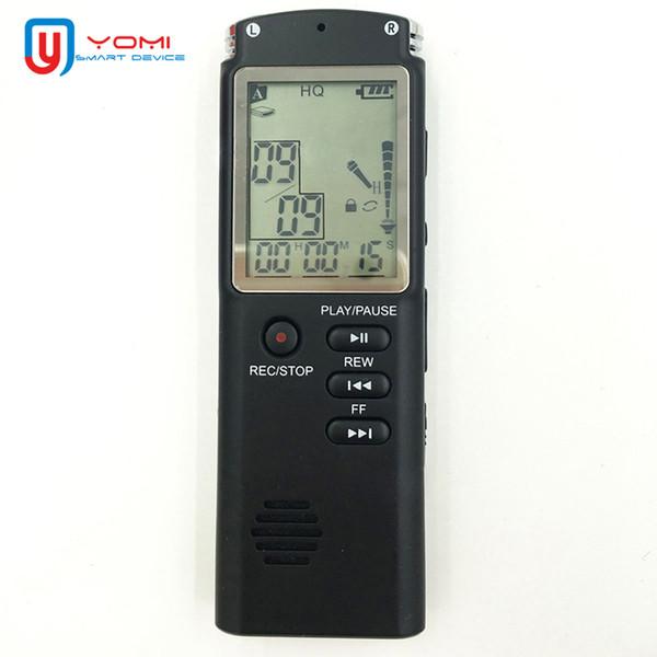Mini grabadora de voz 8G / 16G / 32G Grabadora de sonido profesional HD Pantalla grande USB Voice Pen con reproductor de MP3 WMA