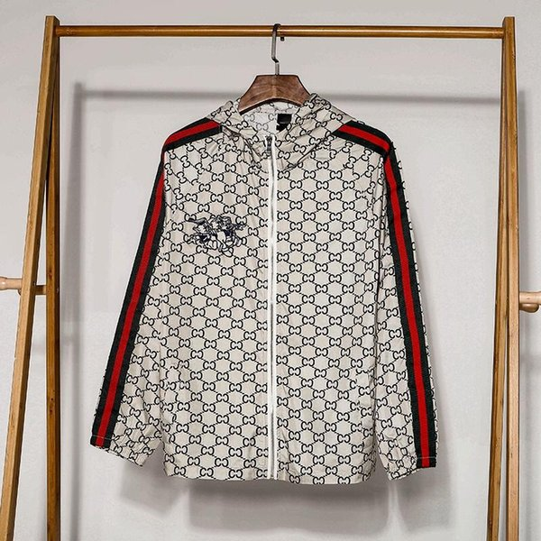 19ss New luxueux Italie Marque Design Full Print Skinsuit sun-proof jacket Hommes Femmes Streetwear Sweatshirts En Plein Air Chemises