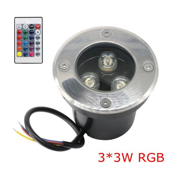 Edison2011 9W IP67 3 х 3W LED Inground света RGB с 24 клавиш контроллера Underground Light Изменение цвета Открытый Buried LED Uplight