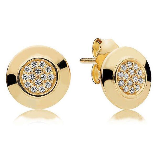 1 Paar Frauen Klassisches design Schmuck Designer Ohrringe Original box Für Pandora 925 Sterling Silber Kristall Diamant Frauen Ohrstecker