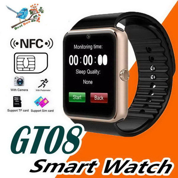 Smart Watch GT08 Clock Sync Notifier Support Sim TF Card Bluetooth Connectivity Android Phone Smartwatch PK DZ09 GV18 A1 GT88