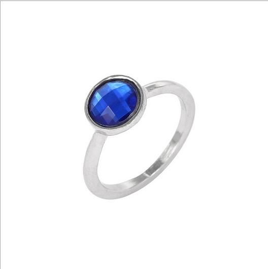 a0200d97cd61 2018 Elegant Pandora Style Ring Vintage Silver Blue Water Drops 925 Ring  finger Joint For Women