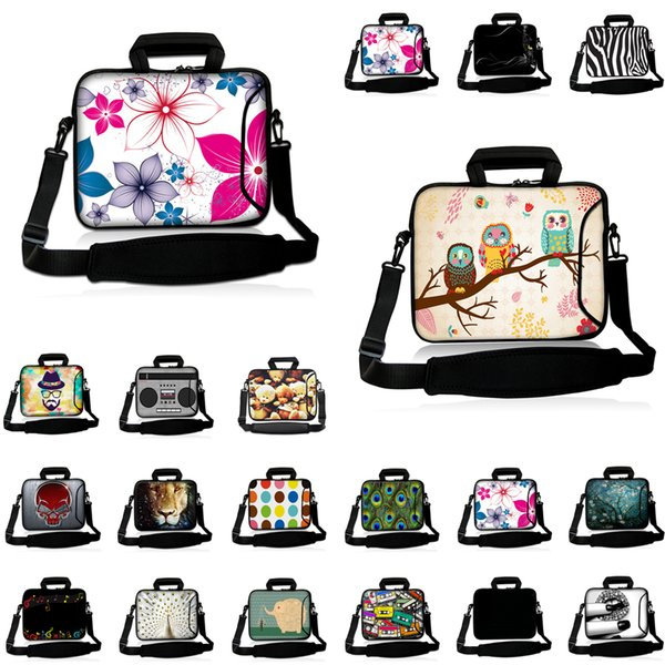 Waterproof Notebook Handle 10 inch 12 13 14 15 17 15.6 13.3 inch Neoprene Bag Carry Case Laptop Messenger Briefcase Pouch