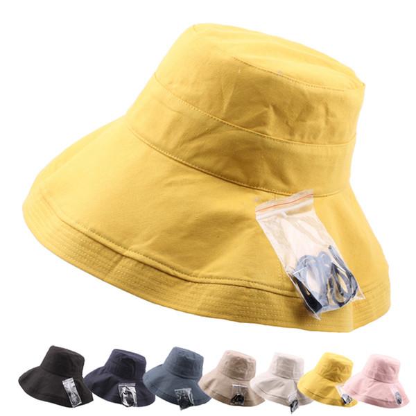 Ladies Outdoor Fisherman Hat Summer Cotton Linen Breathable Sun Hats  Harajuku Women Bucket Hat Wide Brim 87f996a6d5f