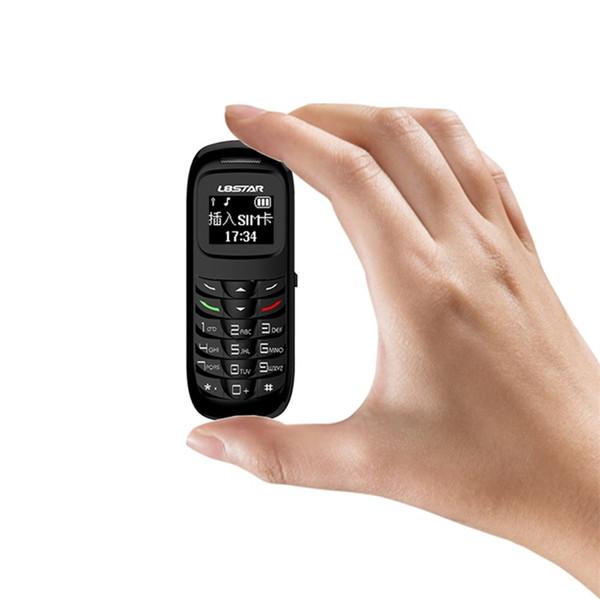 L8STAR BM70 desbloqueado bluetooth mini teléfono móvil 0.66 pulgadas Soporte manos libres Bluetooth llamada de marcado enviar mensajes de texto reproducir mp3