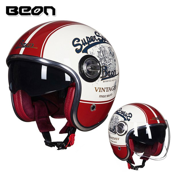 Beon Helmet Vintage Scooter Helmet Open Face Motocross Vintage Casque Moto Casque Casco Capacete Retro Hjc Motorcycle Helmets Kbc Motorcycle Helmet