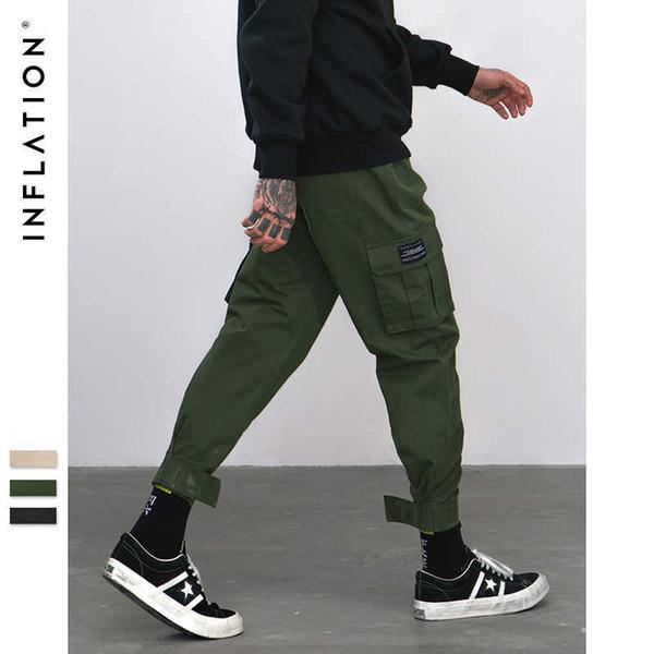 Inflation 2018 New Casual Pants High Street Men Brand Clothing Elastic Male Trousers Men Joggers Leggings Pencil Pants 8869w C19040201