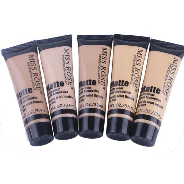 37ml Matte makeup liquid foundation waterproof moisturizing brand professional make-up face concealer 10 colors
