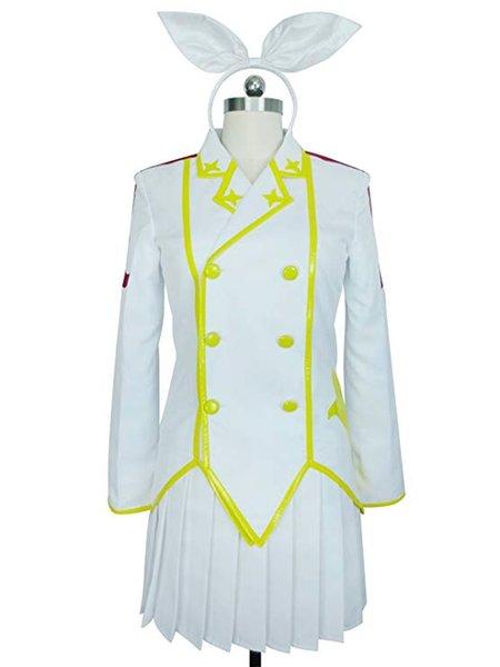 Fairy Tail Sirena Heel White Ribbon Kagura Mikazuchi vestido de uniforme Cosplay