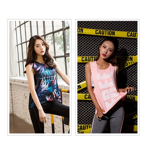 Sexy Letter Printed Women Shirt Running Top Quick-Dry Running Shirt Tops Breathable Sports Jerseys Gym Top