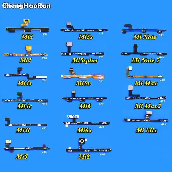 ChengHaoRan 2ST Power On / Off Lautstärketasten Flexkabel für Xiaomi Mi5s 5x M5S Plus-Mi3 Mi4 Mi4i Mi4c Mi4s Mi5 Mi Hinweis Max 2 6x