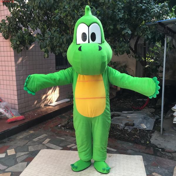 Factory direct EVA material helmet grass green dinosaur mascot costume cartoon costume birthday party masquerade 985